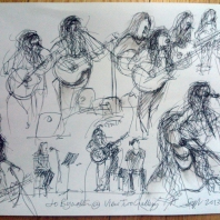 Sketch by Ken Martin, View Two Gallery Liverpool. 2013.