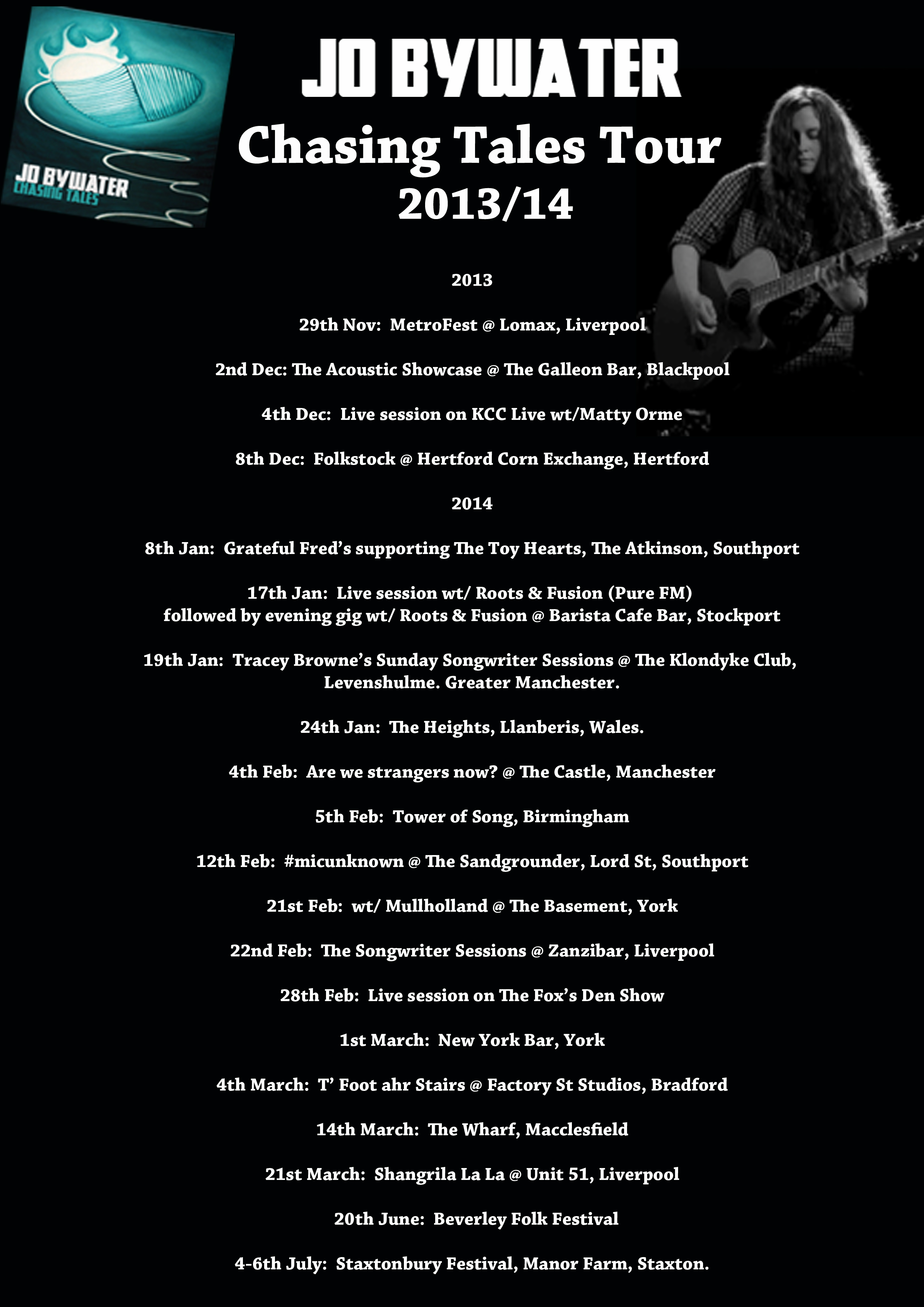 2013-14 Chasing Tales gigs - more to come