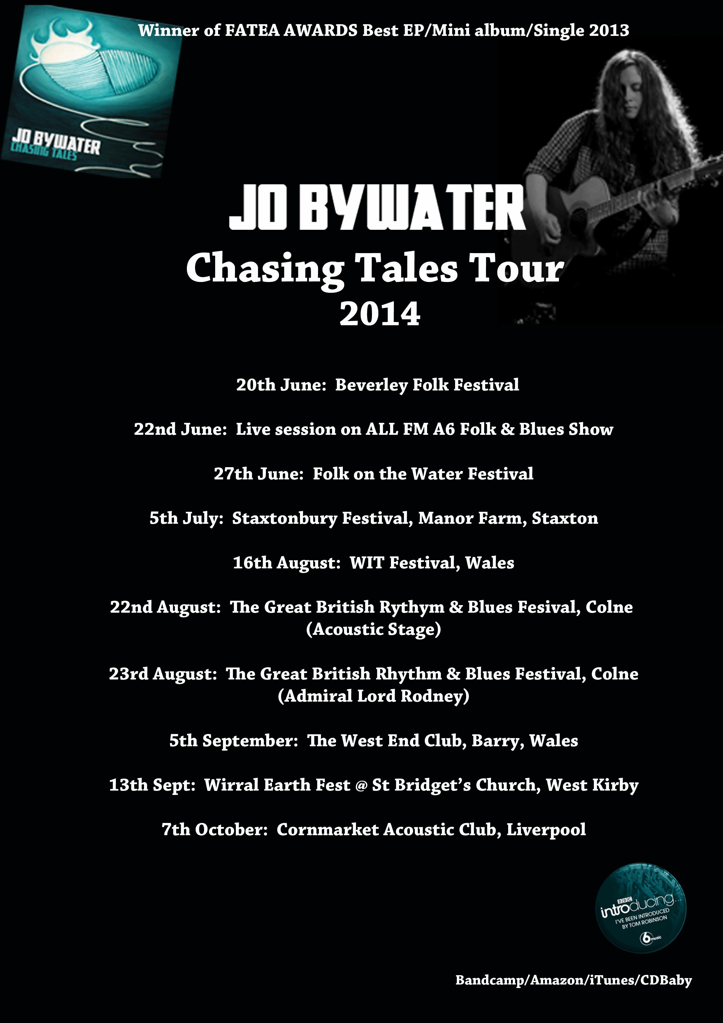 Jo Bywater Festival dates 2014