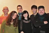 Liverpool Acoustic 6th Birthday (pic by Adrian Wharton) Graham Holland, Me, Cousin Jac, Roxanne De Bastion, Stuart Irwin, Stuart Todd