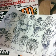 Sketch by Ken Martin, View Two Gallery Liverpool. 27th Feb 2015.